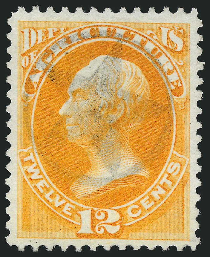 Costs of US Stamp Scott Cat. # O6 - 12c 1873 Agriculture Official. Robert Siegel Auction Galleries, Dec 2011, Sale 1017, Lot 955