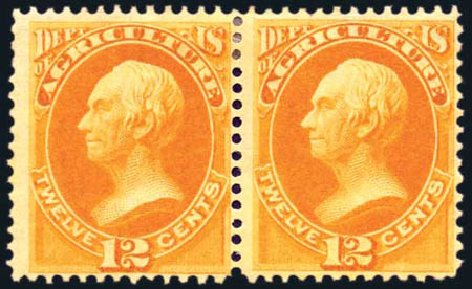 US Stamps Price Scott Catalog #O6: 12c 1873 Agriculture Official. Harmer-Schau Auction Galleries, Aug 2011, Sale 90, Lot 1702