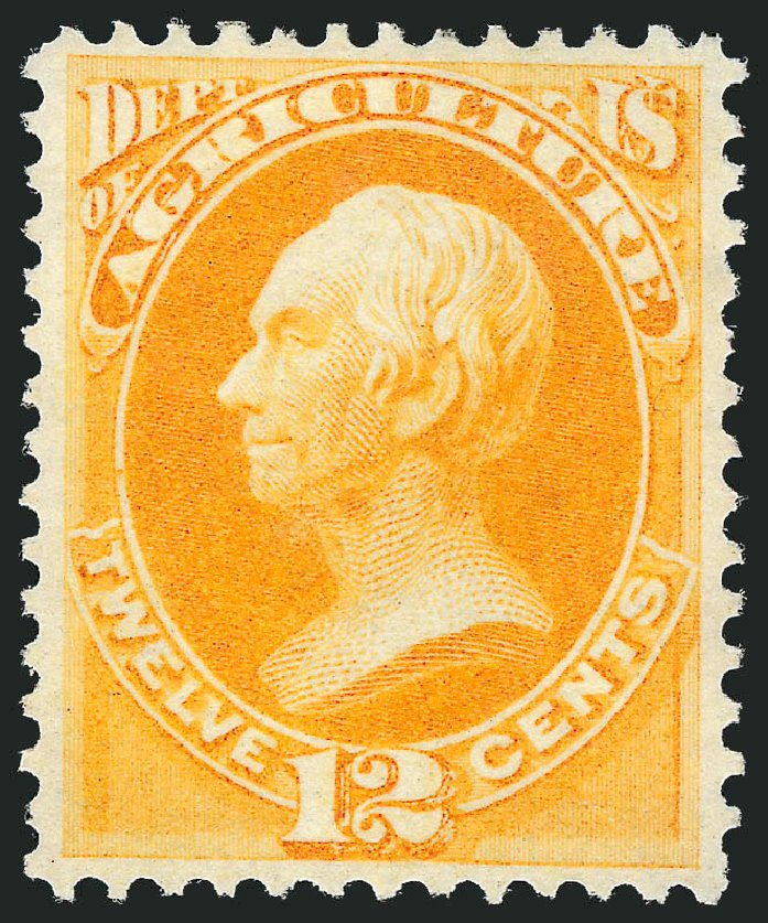 Value of US Stamp Scott Cat. #O6 - 12c 1873 Agriculture Official. Robert Siegel Auction Galleries, Jun 2011, Sale 1011, Lot 882