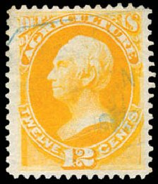 US Stamp Price Scott Cat. # O6: 1873 12c Agriculture Official. Schuyler J. Rumsey Philatelic Auctions, Apr 2015, Sale 60, Lot 2566