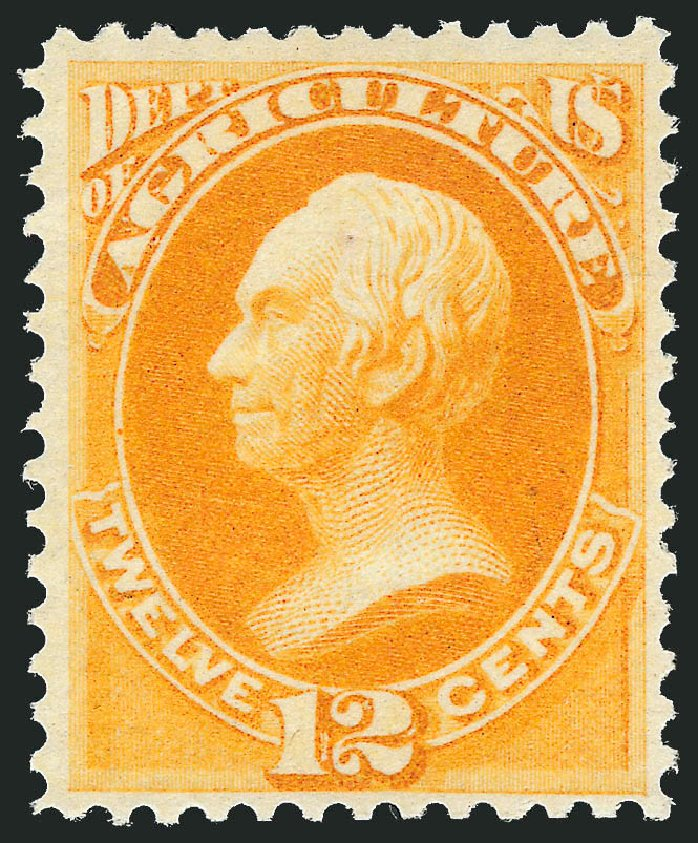Costs of US Stamps Scott Catalog #O6: 1873 12c Agriculture Official. Robert Siegel Auction Galleries, Nov 2013, Sale 1061, Lot 4146