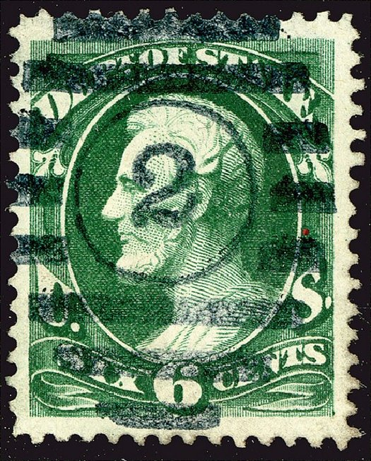US Stamp Prices Scott Catalog #O60 - 1873 6c State Official. Spink Shreves Galleries, Jan 2014, Sale 146, Lot 530