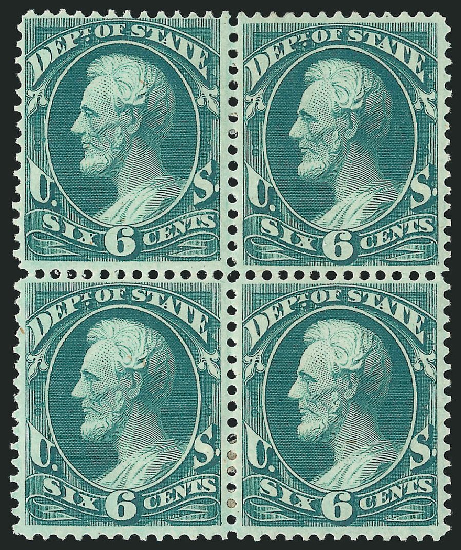 Price of US Stamp Scott Catalog # O60: 1873 6c State Official. Robert Siegel Auction Galleries, Nov 2014, Sale 1085, Lot 4091