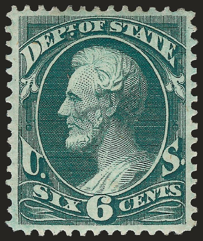 Prices of US Stamp Scott Catalogue O60: 6c 1873 State Official. Robert Siegel Auction Galleries, Jun 2009, Sale 975, Lot 2233