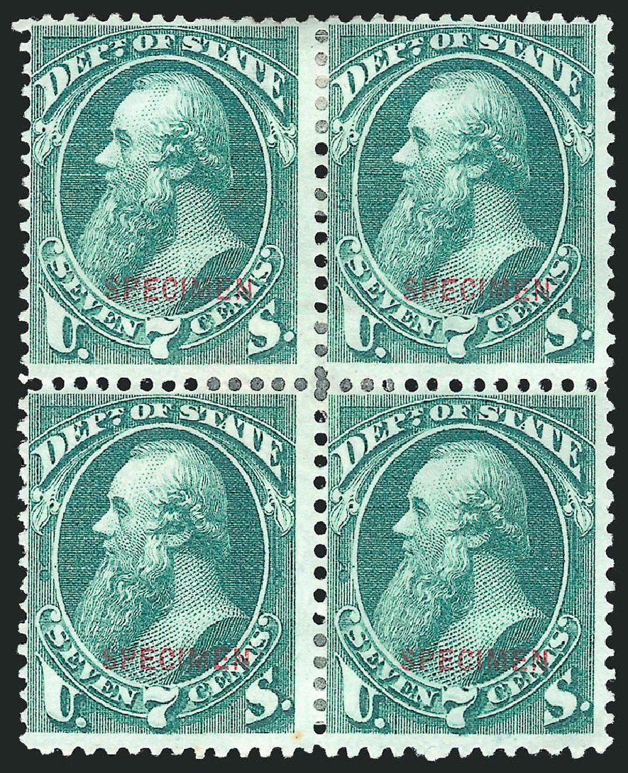 Prices of US Stamp Scott Catalogue O61: 1873 7c State Official. Robert Siegel Auction Galleries, Mar 2015, Sale 1095, Lot 620