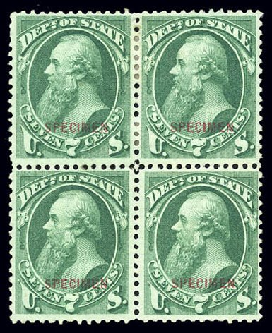 Values of US Stamps Scott Catalog O61 - 7c 1873 State Official. Matthew Bennett International, Sep 2010, Sale 331, Lot 974