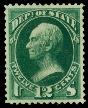 US Stamps Value Scott # O63: 1873 12c State Official. Daniel Kelleher Auctions, May 2015, Sale 669, Lot 3377