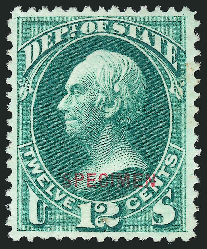 US Stamps Prices Scott Catalog #O63 - 1873 12c State Official. Robert Siegel Auction Galleries, Nov 2013, Sale 1061, Lot 4207