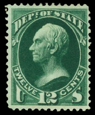 Prices of US Stamp Scott Catalogue # O63 - 1873 12c State Official. Daniel Kelleher Auctions, May 2015, Sale 669, Lot 3378