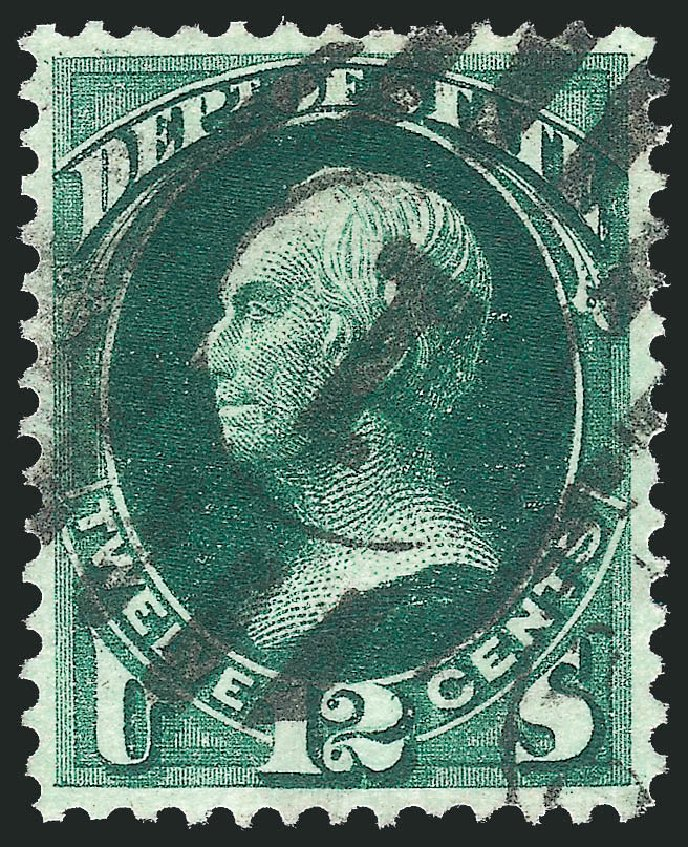 Costs of US Stamps Scott Cat. # O63: 12c 1873 State Official. Robert Siegel Auction Galleries, Oct 2012, Sale 1032, Lot 3679