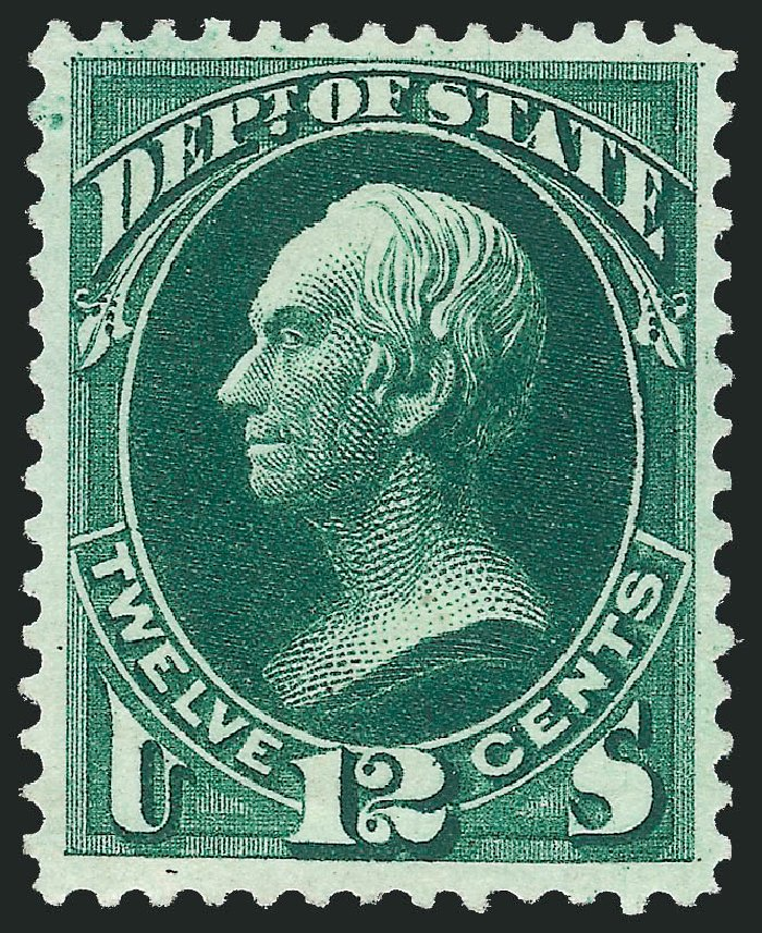 Price of US Stamps Scott Catalog O63: 1873 12c State Official. Robert Siegel Auction Galleries, Dec 2011, Sale 1017, Lot 971