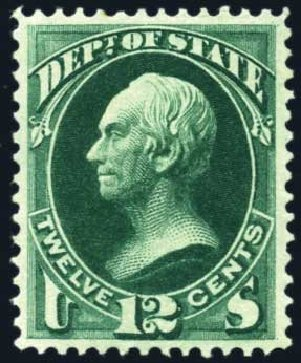 Value of US Stamps Scott # O63 - 12c 1873 State Official. Harmer-Schau Auction Galleries, Feb 2010, Sale 84, Lot 1825