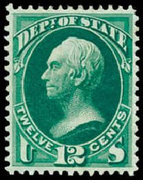 Price of US Stamp Scott # O63 - 12c 1873 State Official. Schuyler J. Rumsey Philatelic Auctions, Apr 2015, Sale 60, Lot 2573