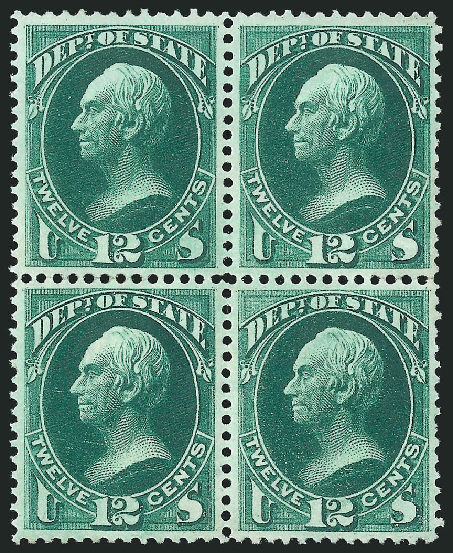 Costs of US Stamps Scott Catalog O63 - 1873 12c State Official. Robert Siegel Auction Galleries, Nov 2014, Sale 1085, Lot 4093