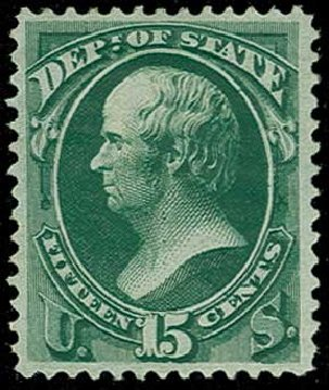 US Stamp Price Scott O64 - 1873 15c State Official. H.R. Harmer, Jun 2015, Sale 3007, Lot 3490