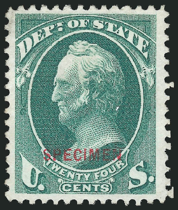 Prices of US Stamp Scott O65 - 24c 1873 State Official. Robert Siegel Auction Galleries, Nov 2013, Sale 1061, Lot 4209