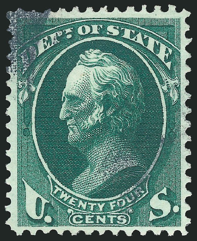 Price of US Stamp Scott O65: 24c 1873 State Official. Robert Siegel Auction Galleries, Dec 2013, Sale 1062, Lot 839