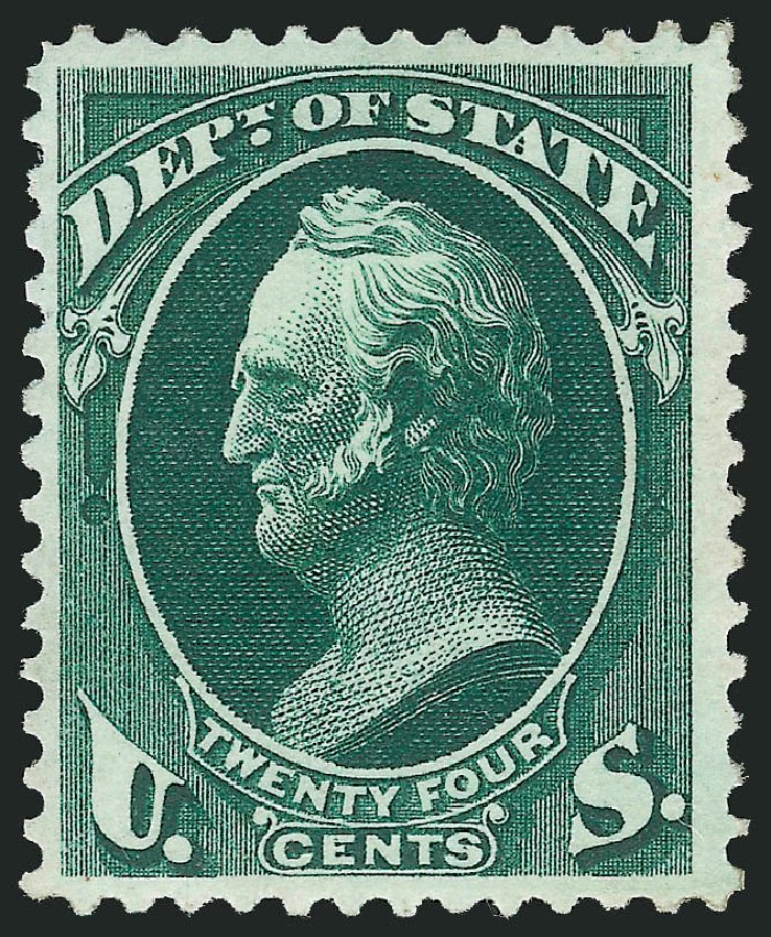 Costs of US Stamps Scott Catalogue #O65: 1873 24c State Official. Robert Siegel Auction Galleries, Feb 2015, Sale 1092, Lot 1462