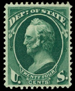 US Stamps Price Scott Cat. #O65: 24c 1873 State Official. Daniel Kelleher Auctions, Oct 2014, Sale 660, Lot 2553
