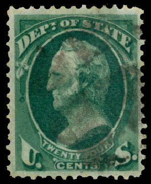 US Stamp Price Scott Catalogue #O65: 24c 1873 State Official. Daniel Kelleher Auctions, May 2015, Sale 669, Lot 3383