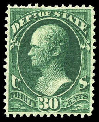 Costs of US Stamps Scott Cat. #O66 - 1873 30c State Official. Matthew Bennett International, Mar 2011, Sale 337, Lot 3187