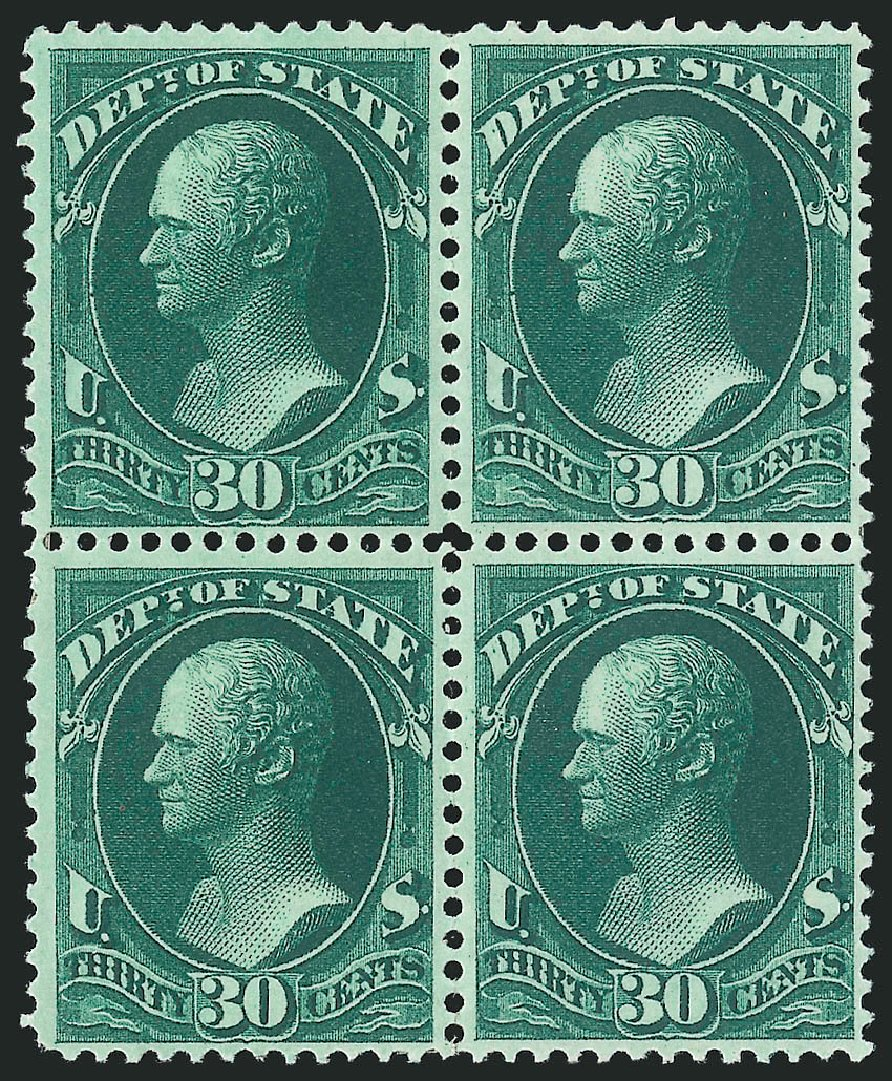 Prices of US Stamps Scott # O66 - 1873 30c State Official. Robert Siegel Auction Galleries, Nov 2014, Sale 1085, Lot 4097