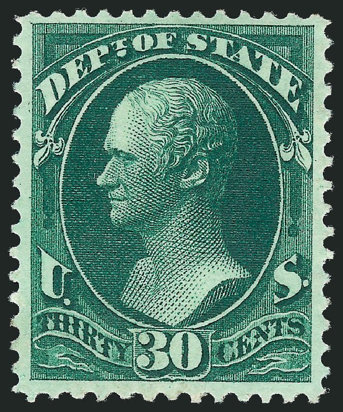 US Stamps Price Scott Catalogue #O66 - 1873 30c State Official. Robert Siegel Auction Galleries, Nov 2013, Sale 1061, Lot 4168