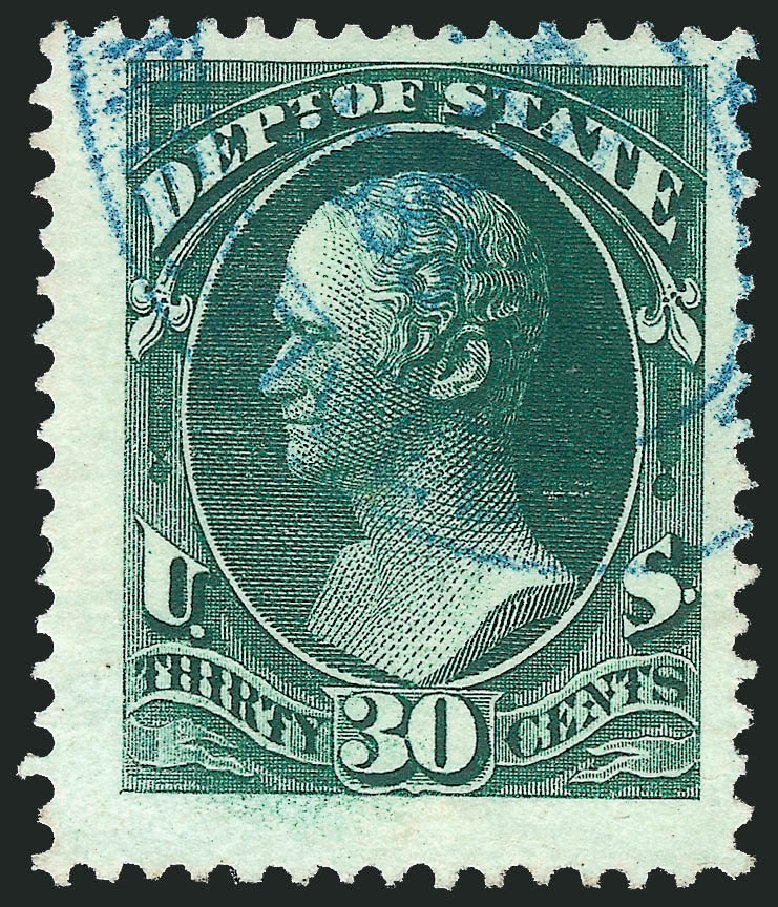 Cost of US Stamps Scott # O66 - 1873 30c State Official. Robert Siegel Auction Galleries, Nov 2014, Sale 1085, Lot 4098