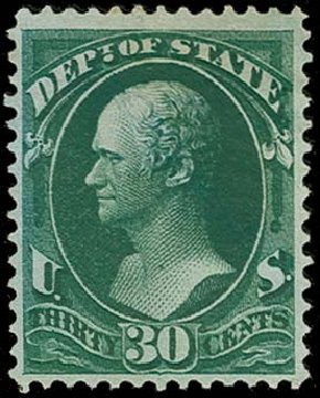 Price of US Stamps Scott Catalog O66: 30c 1873 State Official. H.R. Harmer, Oct 2014, Sale 3006, Lot 1530