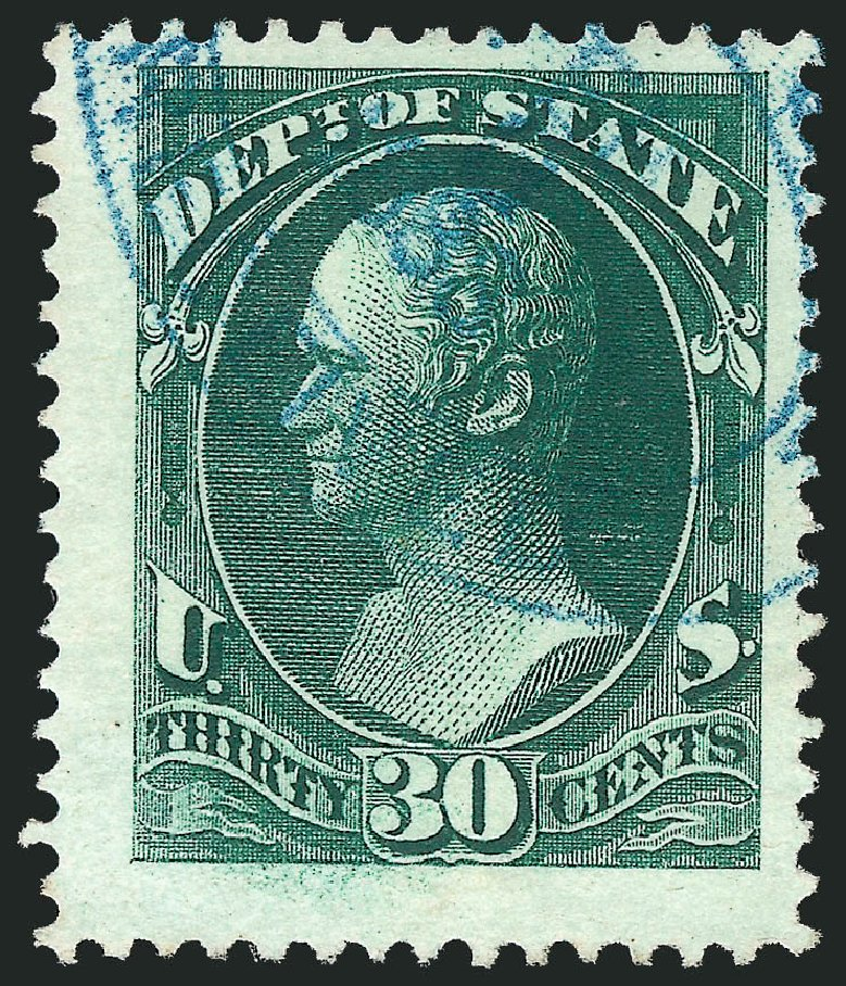 US Stamp Price Scott O66 - 1873 30c State Official. Robert Siegel Auction Galleries, Oct 2012, Sale 1032, Lot 3681