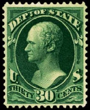 Value of US Stamp Scott Cat. #O66 - 1873 30c State Official. Harmer-Schau Auction Galleries, Feb 2012, Sale 92, Lot 1334