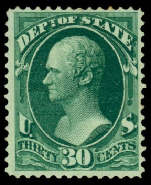 Price of US Stamps Scott O66: 1873 30c State Official. Daniel Kelleher Auctions, Dec 2013, Sale 640, Lot 615