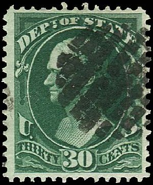 US Stamps Prices Scott Cat. O66: 1873 30c State Official. Regency-Superior, Nov 2014, Sale 108, Lot 1225