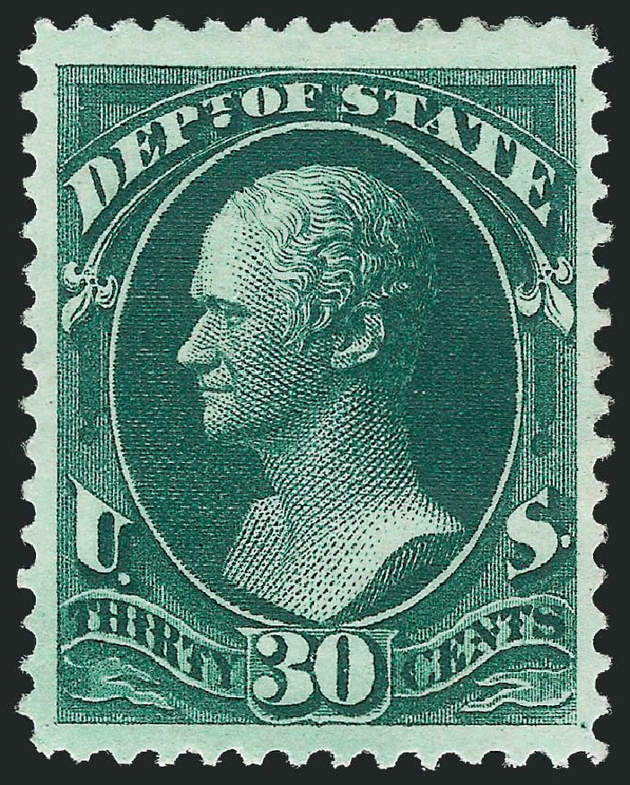 US Stamps Value Scott # O66: 30c 1873 State Official. Robert Siegel Auction Galleries, Oct 2012, Sale 1033, Lot 4315