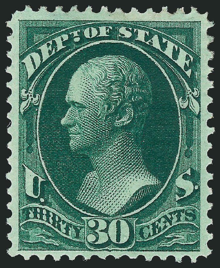 US Stamp Price Scott Catalogue O66 - 30c 1873 State Official. Robert Siegel Auction Galleries, Dec 2011, Sale 1017, Lot 973