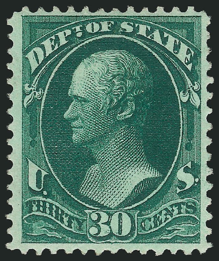 Prices of US Stamps Scott Catalog # O66 - 1873 30c State Official. Robert Siegel Auction Galleries, Feb 2015, Sale 1092, Lot 1463