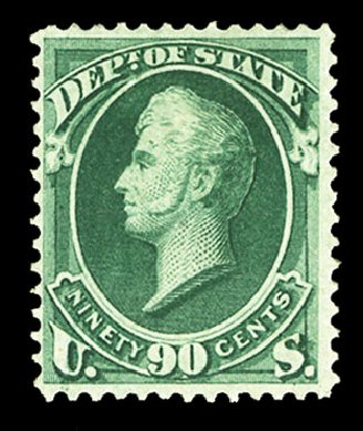 US Stamps Prices Scott O67 - 90c 1873 State Official. Cherrystone Auctions, Jul 2015, Sale 201507, Lot 2221
