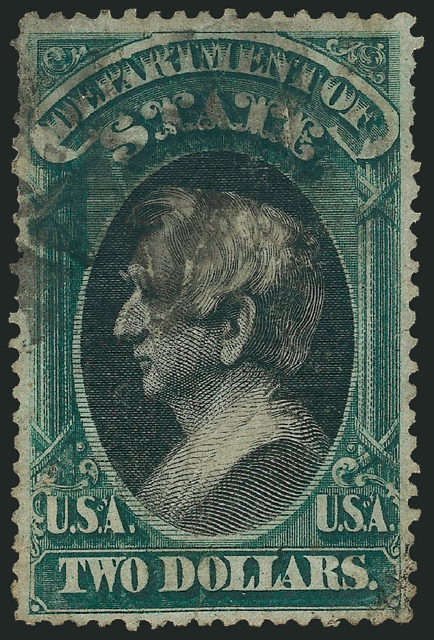 Costs of US Stamps Scott Cat. # O68: US$2.00 1873 State Official. Robert Siegel Auction Galleries, Dec 2014, Sale 1090, Lot 1670