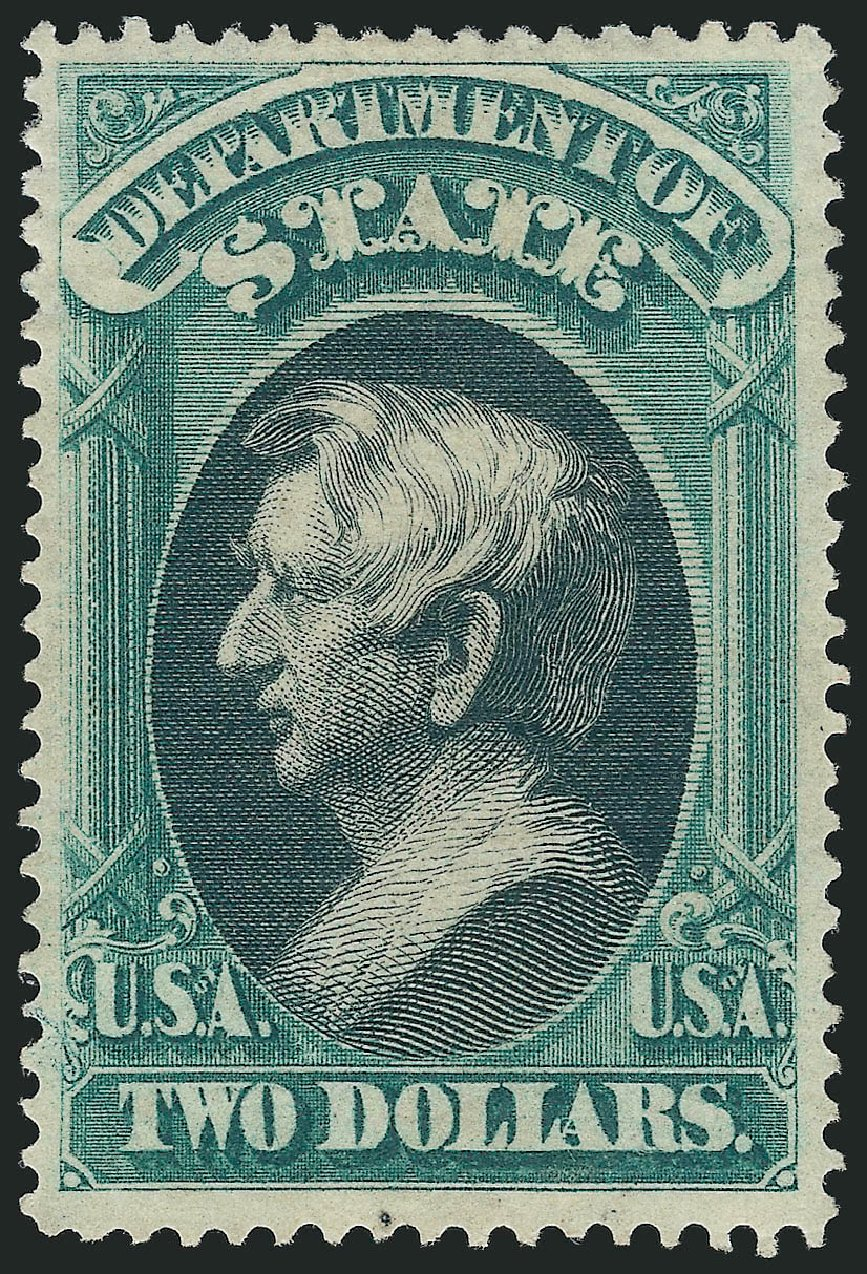 US Stamp Price Scott Catalogue O68: US$2.00 1873 State Official. Robert Siegel Auction Galleries, Nov 2014, Sale 1085, Lot 4101
