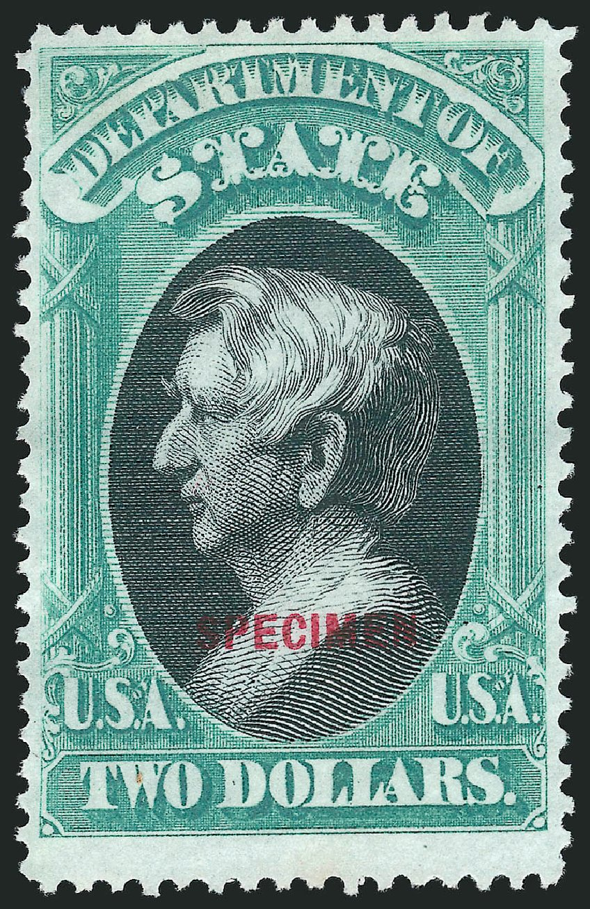 Values of US Stamp Scott O68: US$2.00 1873 State Official. Robert Siegel Auction Galleries, Mar 2015, Sale 1095, Lot 611