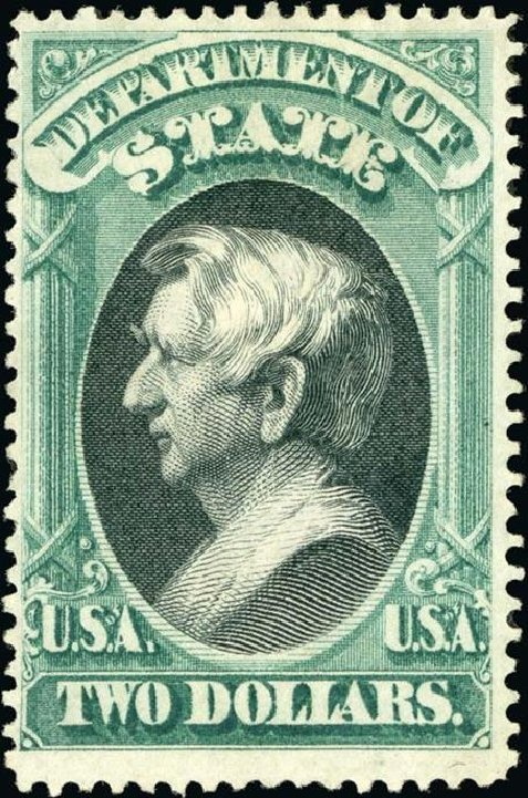 US Stamp Value Scott # O68 - 1873 US$2.00 State Official. Spink Shreves Galleries, Jan 2015, Sale 150, Lot 261