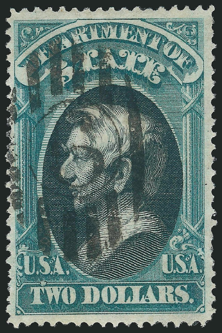 US Stamp Value Scott Cat. #O68 - 1873 US$2.00 State Official. Robert Siegel Auction Galleries, Nov 2014, Sale 1085, Lot 4102
