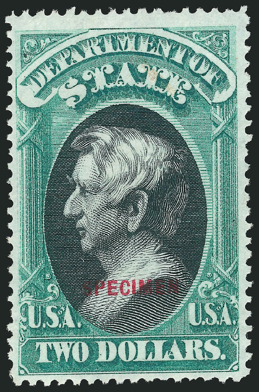 Prices of US Stamp Scott Catalogue # O68: 1873 US$2.00 State Official. Robert Siegel Auction Galleries, Mar 2015, Sale 1095, Lot 612