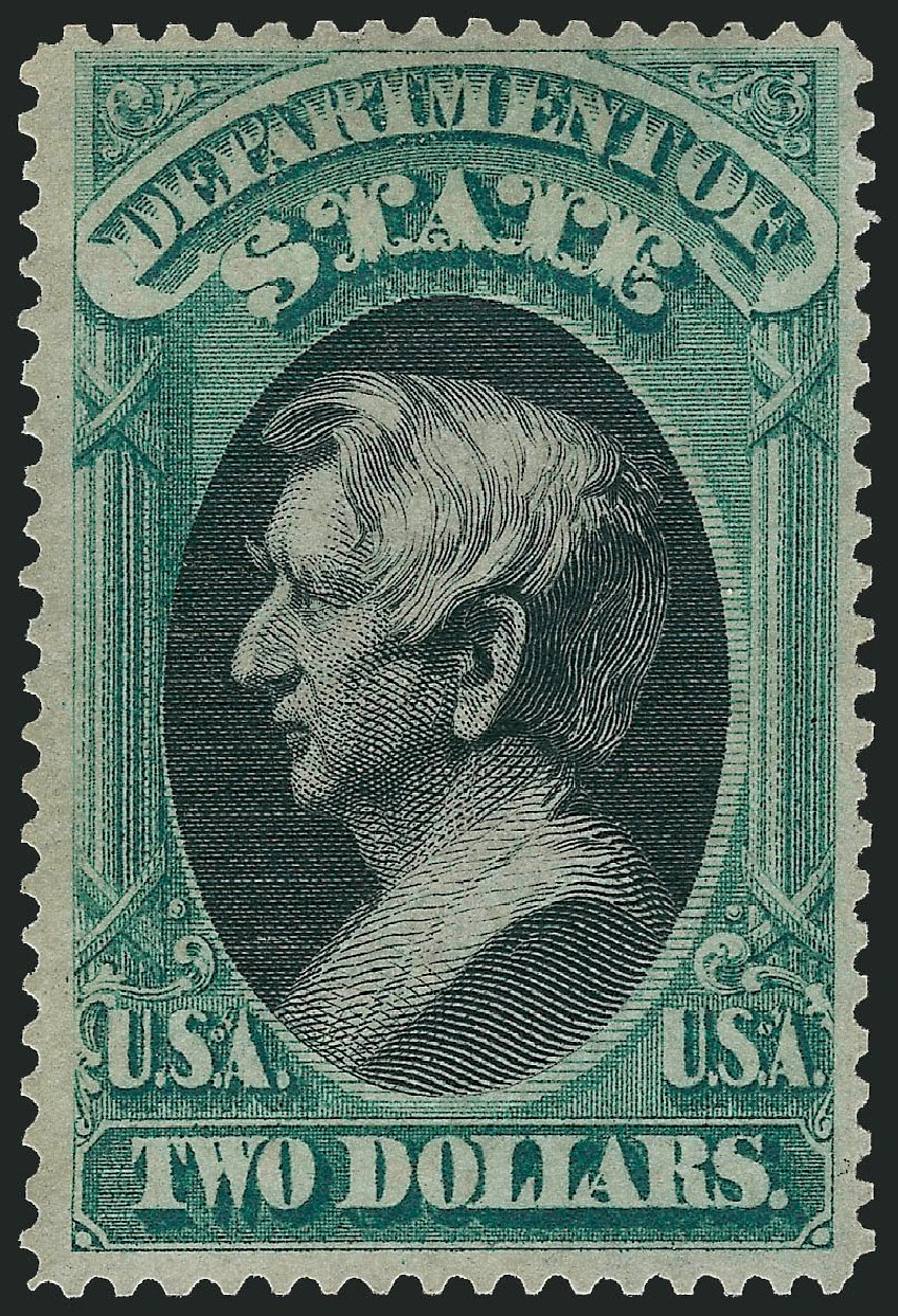 Cost of US Stamps Scott Catalog # O68: 1873 US$2.00 State Official. Robert Siegel Auction Galleries, Apr 2015, Sale 1096, Lot 896