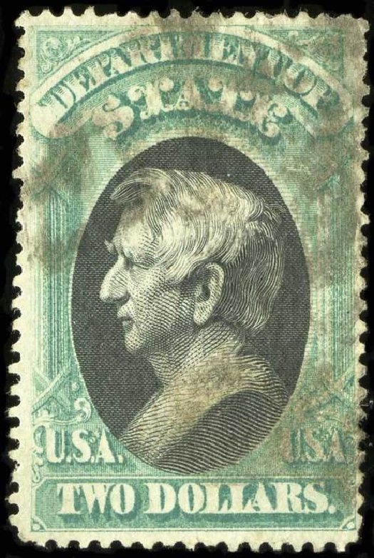 Values of US Stamp Scott Cat. # O68 - 1873 US$2.00 State Official. Spink Shreves Galleries, Jul 2015, Sale 151, Lot 396