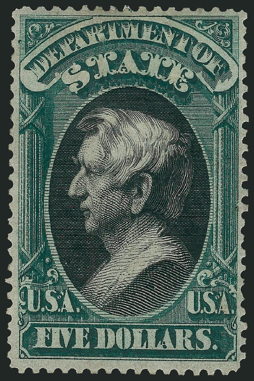 US Stamps Prices Scott Cat. O69 - US$5.00 1873 State Official. Robert Siegel Auction Galleries, Apr 2015, Sale 1096, Lot 897