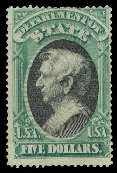 Prices of US Stamp Scott Catalog # O69: US$5.00 1873 State Official. Daniel Kelleher Auctions, May 2015, Sale 669, Lot 3388