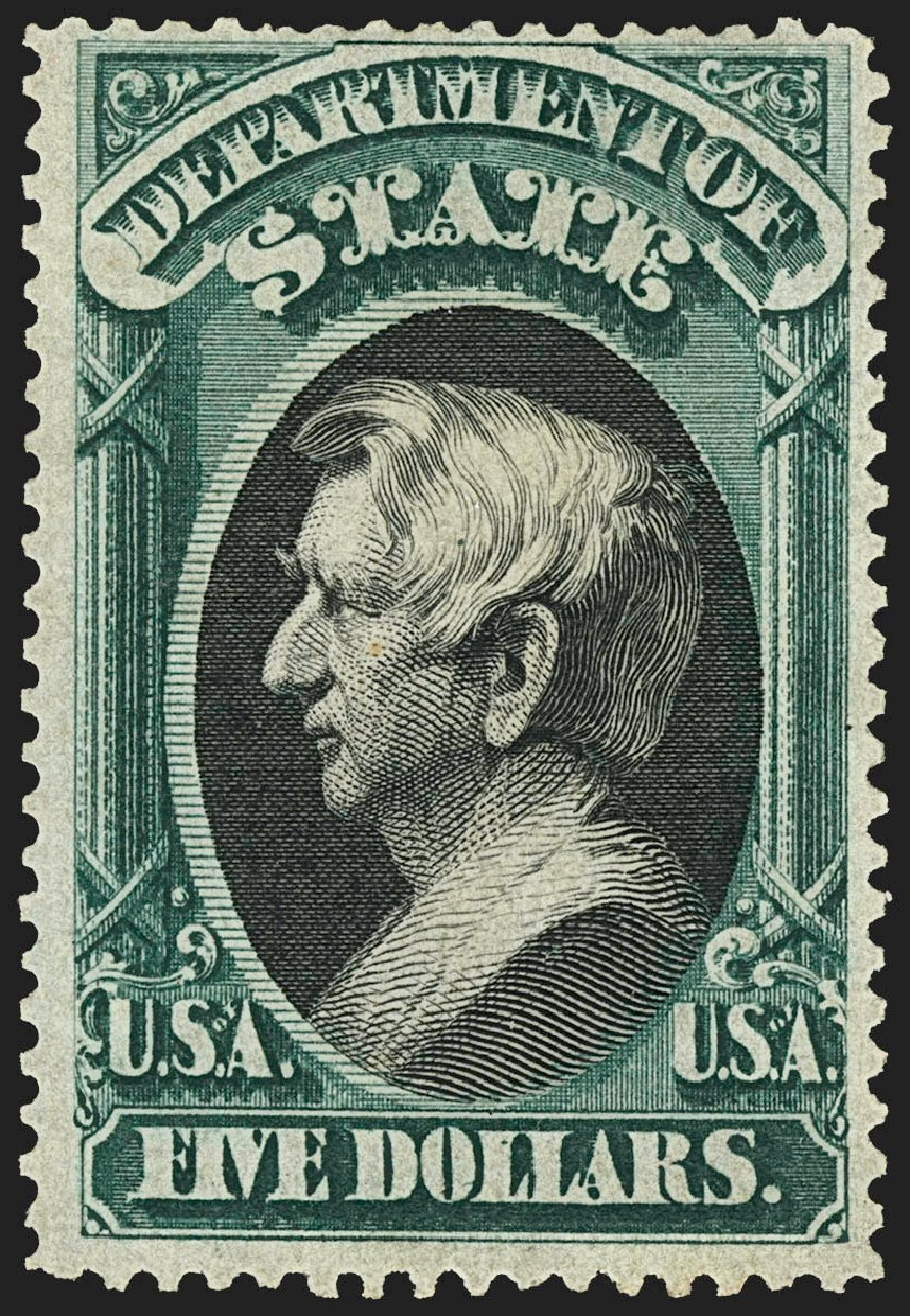 US Stamps Prices Scott O69 - US$5.00 1873 State Official. Robert Siegel Auction Galleries, Jul 2015, Sale 1107, Lot 622