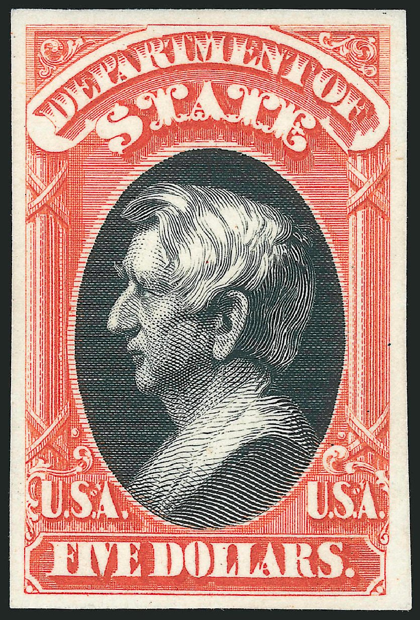 US Stamps Price Scott O69 - 1873 US$5.00 State Official. Robert Siegel Auction Galleries, Oct 2014, Sale 1082, Lot 243