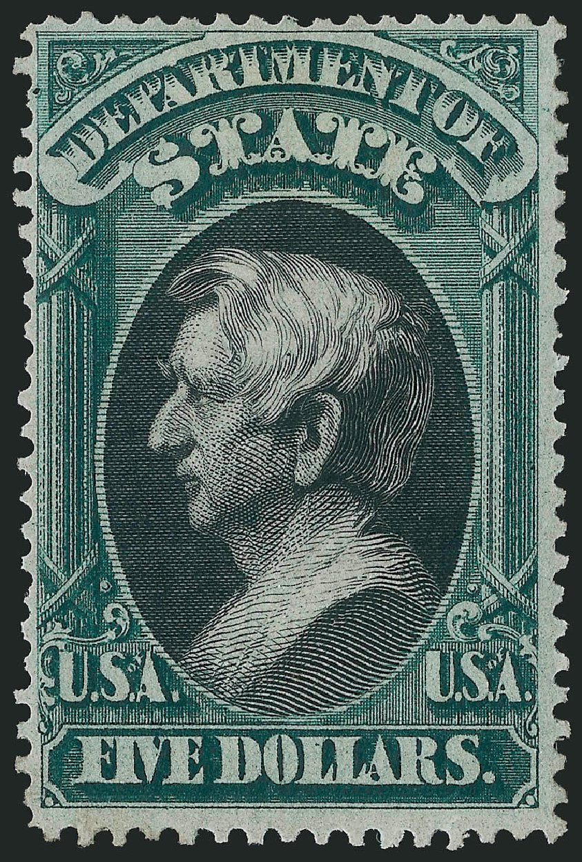 US Stamp Prices Scott # O69: 1873 US$5.00 State Official. Robert Siegel Auction Galleries, Oct 2014, Sale 1082, Lot 506